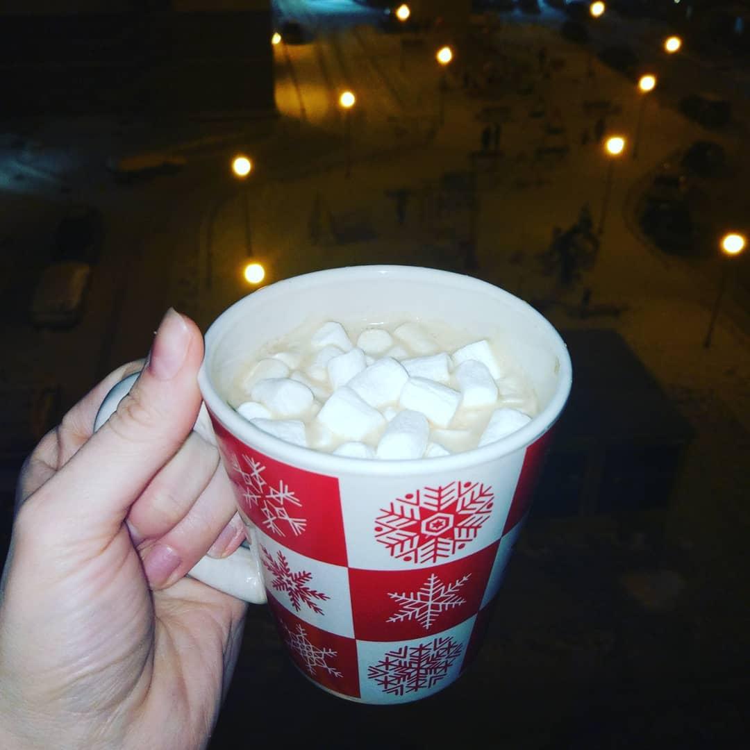 Кофе со сливками и маршмеллоу