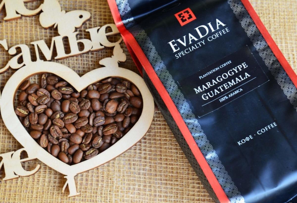 Кофе в зёрнах EvaDia Марагоджип