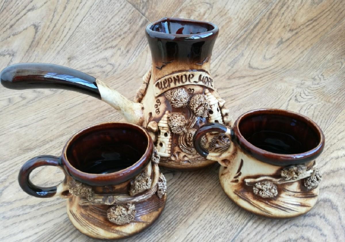 Турка и чашки