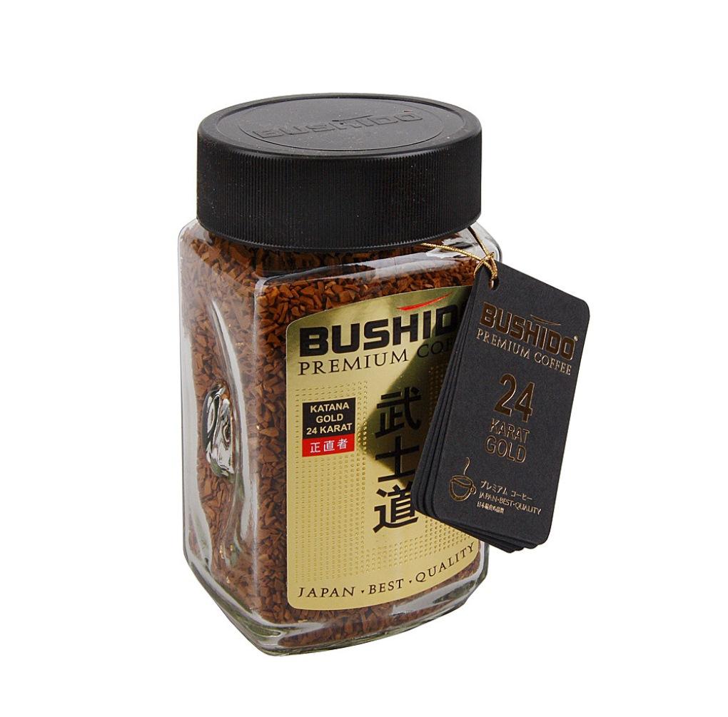 Кофе растворимый Bushido Katana Gold 24