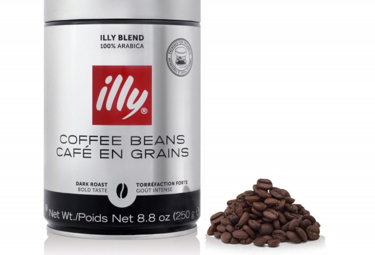 Кофе illy темной обжарки в зернах