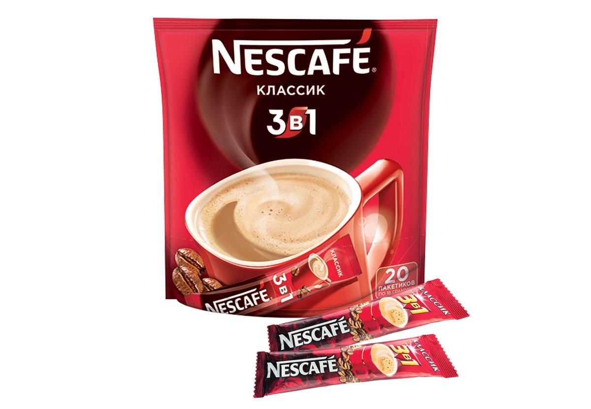 3 в 1 - доступный по цене вариант кофе, продающийся в стиках