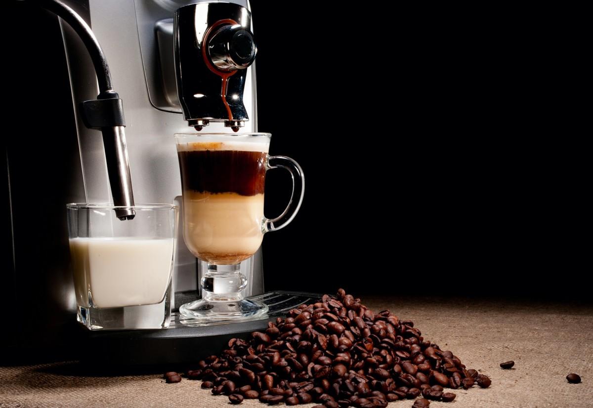 латте из кофемашины