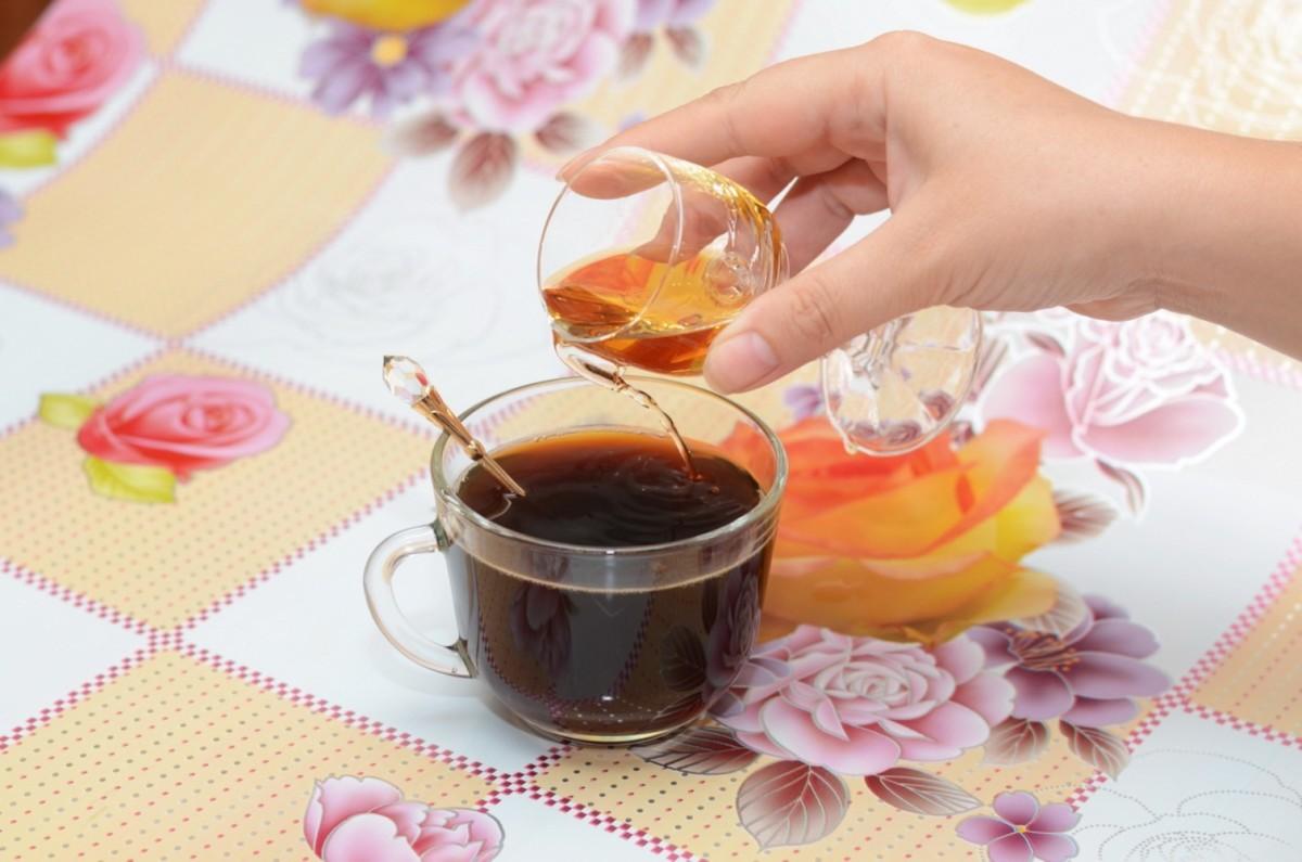 Коньяк в кофе
