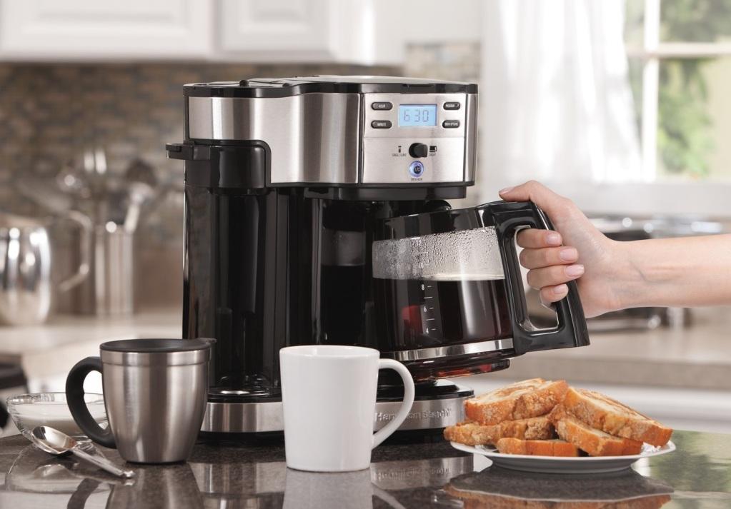 В кофеварки можно приготовить достаточно большой обьем напитка